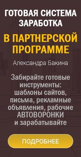 Готовая система заработка на ПП А.Бакина