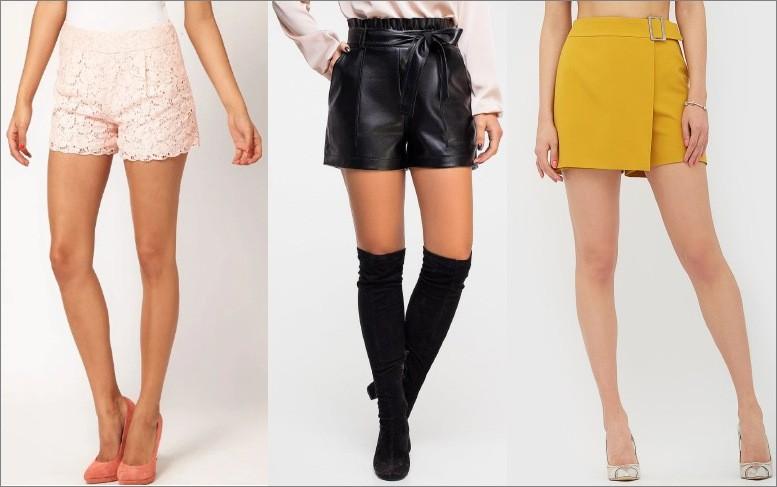 Купить женские кожаные шорты